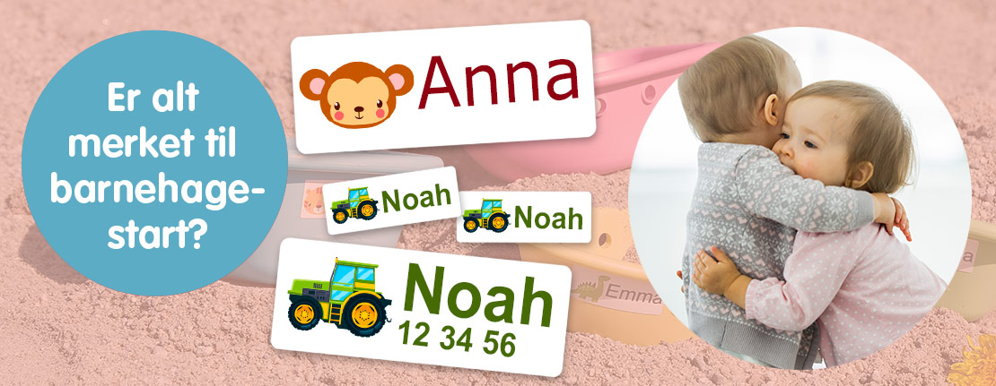 Navnelapper - har du merket alt til barnehagestart